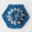 Crochet Dahlia Hexagon