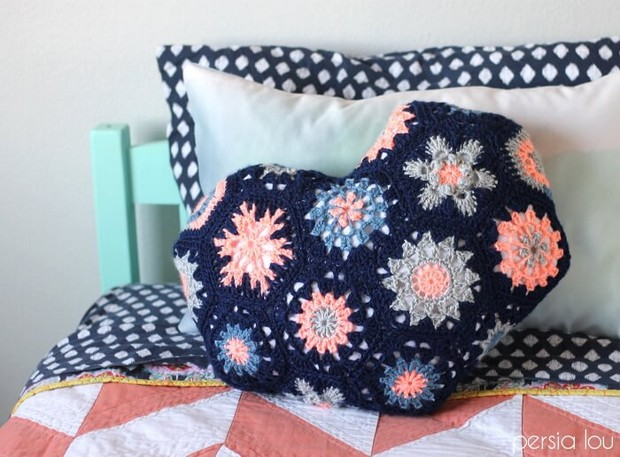 Crochet Hexagon Pillow