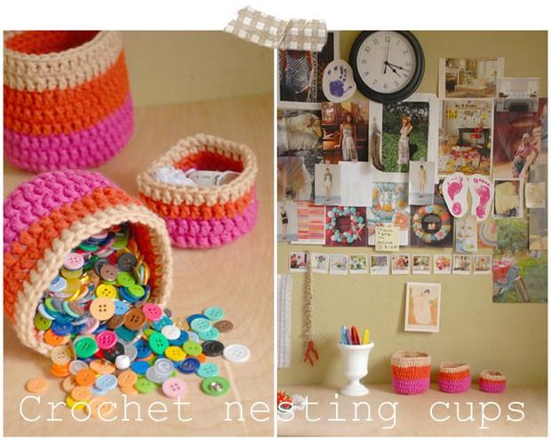 Crochet Nesting Cups