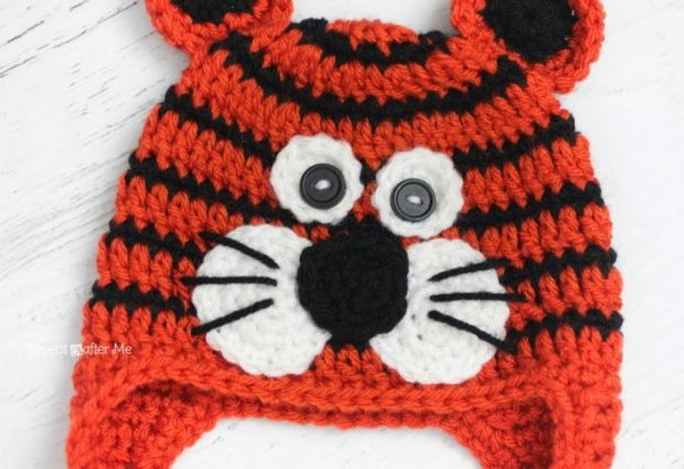 Crochet Tiger Hat