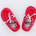 Crochet Toddler Boat Shoes flip flop soles