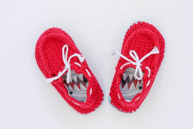 Crochet Toddler Boat Shoes flip flop soles