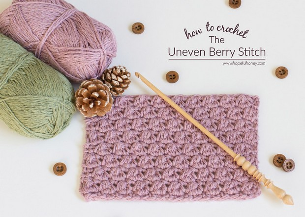 Crochet Uneven Berry Stitch Tutorial