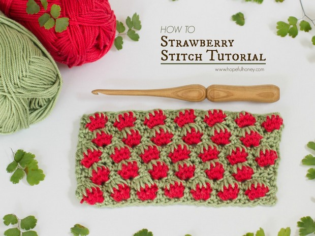 Strawberry Stitch Crochet Tutorial