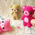 crochet amigurumi miniature bears