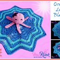crochet octopus lovey blanket