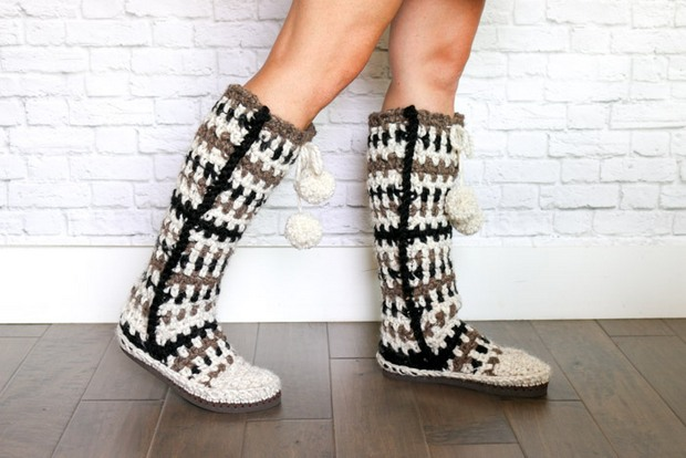 Turn Flip Flops Into Fabulous Diy Crochet Slipper Boots Free Pattern