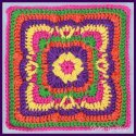 Crochet Autumn Granny Square