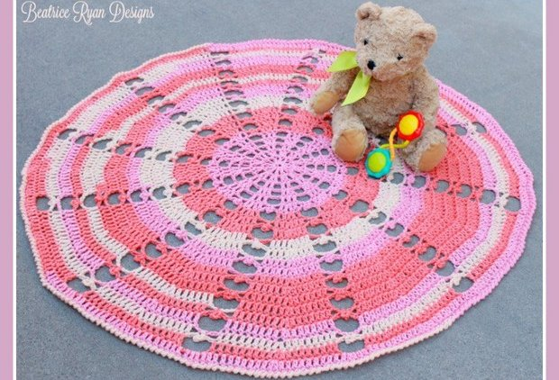 Beautiful Round Crochet Baby Blanket Free Pattern