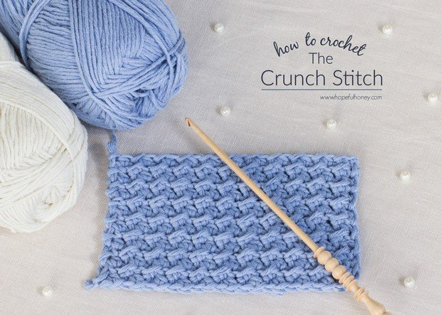 Crochet Crunch Stitch Tutorial