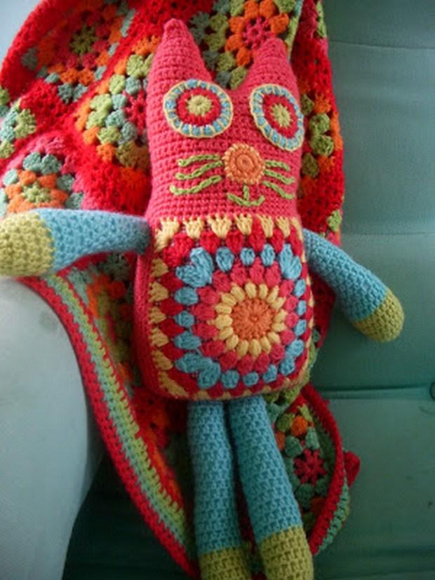 Crochet Granny Square Cat
