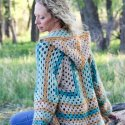 Crochet Hexagon Cardigan easy free pattern