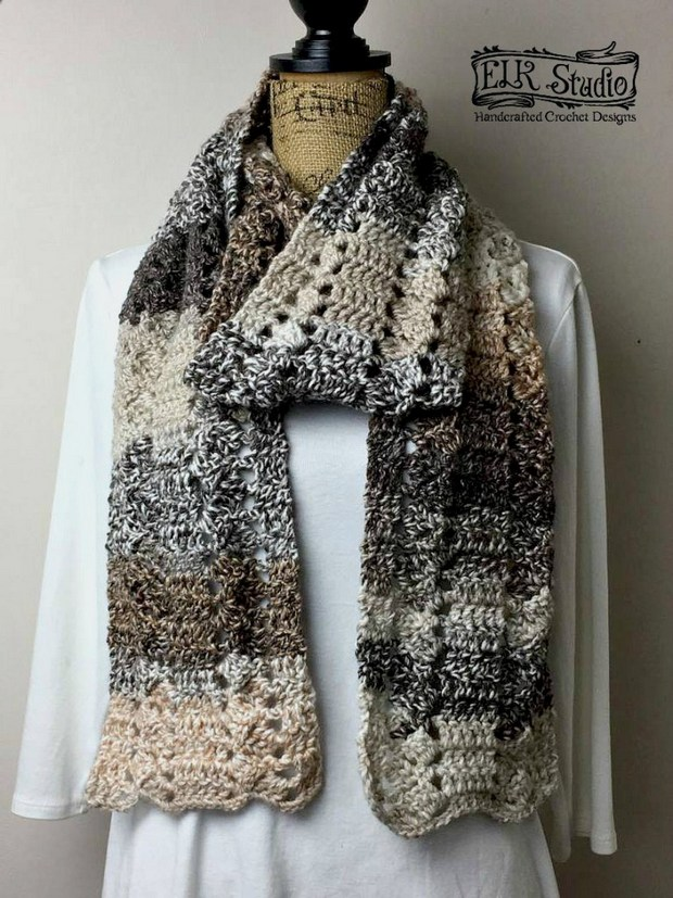 Super Long And Fabulous One Skein Crochet Scarf Free Pattern