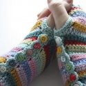 Crochet Striped Mitts
