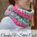 Crochet V Stitch Cowl