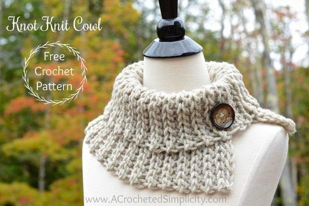 Knit-like Crochet Cowl