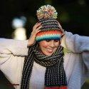 crochet boho pom hat