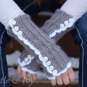 vintage style crochet arm warmers