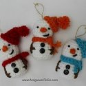 Amigurumi Crochet Snowman Christmas Tree Ornament