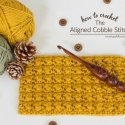 Crochet Aligned Cobble Stitch