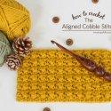 Crochet Aligned Cobble Stitch