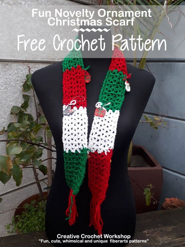 Super Easy And Fun Crochet Christmas Scarf Free Pattern