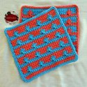 Crochet Cluster Stitch Washcloth