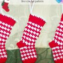 Crochet Houndstooth Christmas Mini Stockings