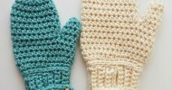 Crochet Mittens Easy Pattern