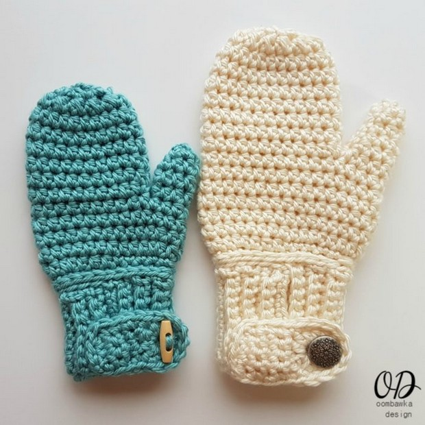 Cozy Crochet Mittens For Children Adults Easy Free Pattern