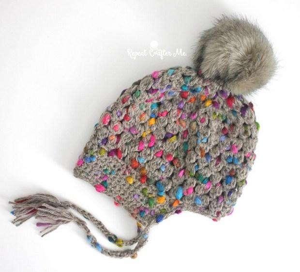 Crochet Pom Pom Hat Free Pattern
