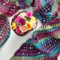 Crochet Scarf Red Heart Unforgettable Yarn