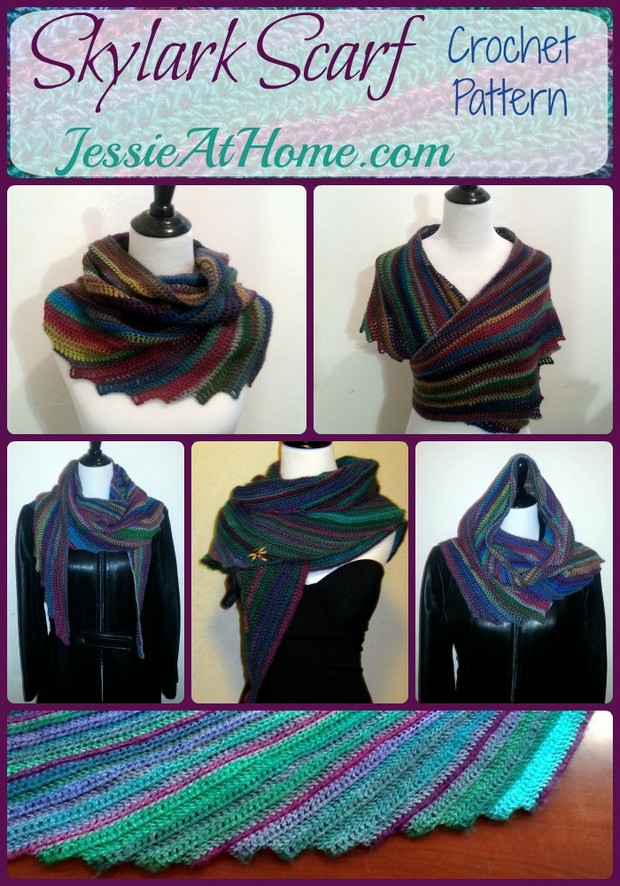 FREE Patterns] Stylish Crochet Multicolor Scarf + Matching Hat Made ...
