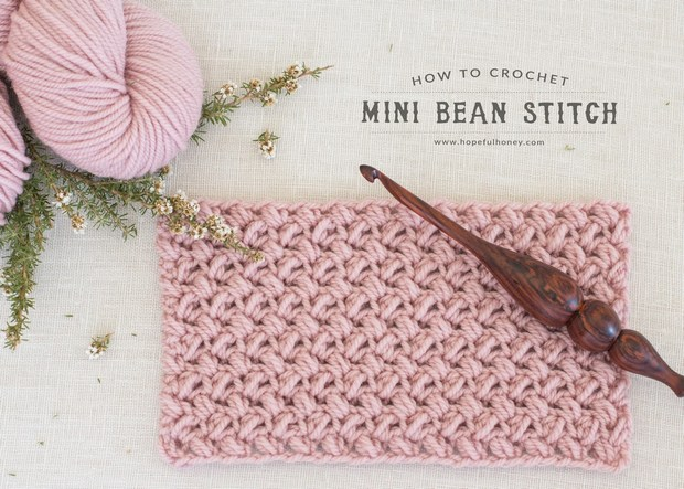 Video Tutorial Learn The Crochet Mini Bean Stitch Today Its