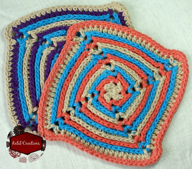 Pinwheel Crochet Dish Cloth