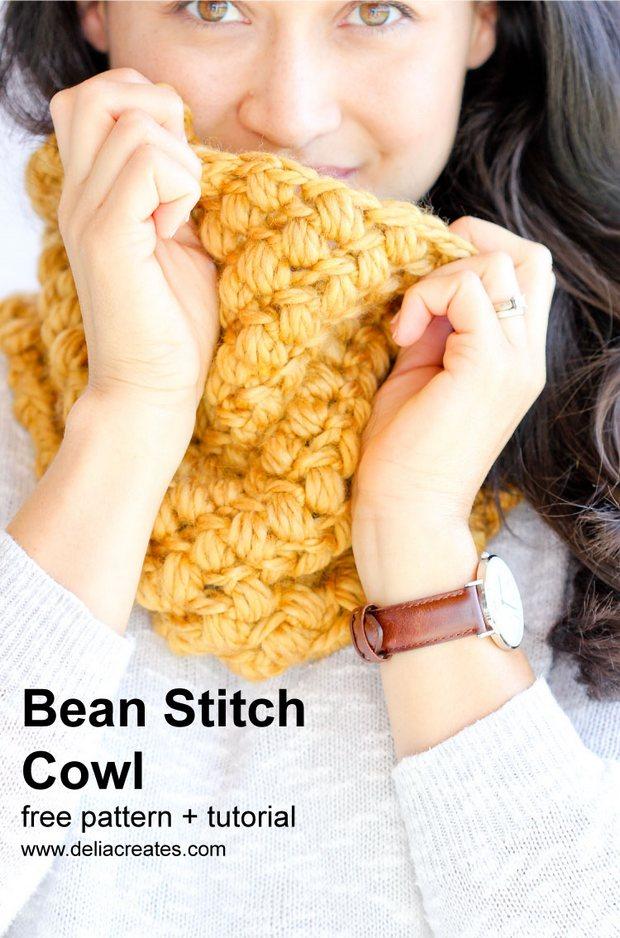bean stitch cowl