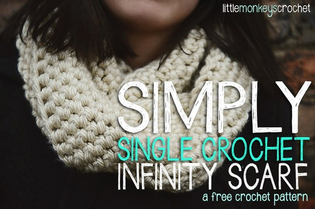 Free Pattern This Single Crochet Only Chunky Infinity Scarf Is