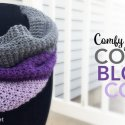 crochet color block cowl
