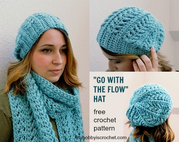 Free Patterns Stylish Chunky Yarn Crochet Hat And Matching Super Scarf