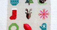 C2C Crochet Christmas Afghan Squares Patterns