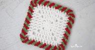 Crochet Candy Cane Border Free Pattern