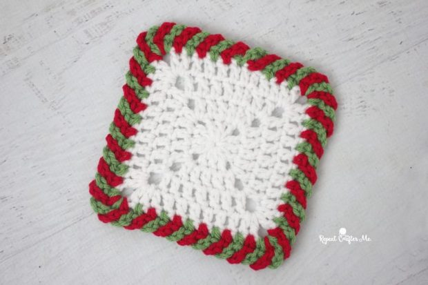 Crochet Candy Cane Border Free Pattern