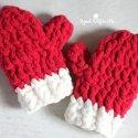 Crochet Christmas Mittens Free Pattern