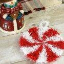 Crochet Christmas Peppermint Scrubby Free Pattern