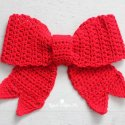 Crochet Christmas Red Bow Free Pattern