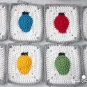 Crochet Christmas Tree Lights Granny Square