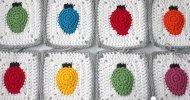 Crochet Christmas Tree Lights Granny Square
