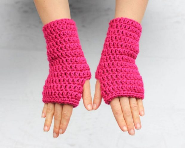 Crochet Fingerless Gloves Fast Easy Free Pattern