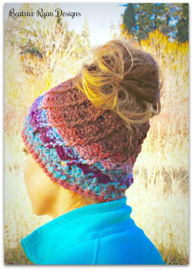 Crochet Messy Bun Free Pattern
