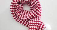 Crochet Peppermint Houndstooth Scarf Free Pattern